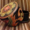 Wooden batik round container Created By  Posted By kartini