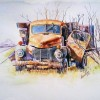 Old Truck Water color on Canson Sheet Created By  Posted By Alavudheen