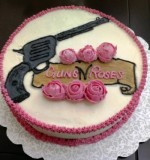 Guns and Roses cake Created By  Posted By The Fabulous Cake