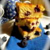 White Choc and Blueberry brownies Created By  Posted By The Baking Studio