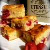 Raspberries and White Choc Brownies Created By  Posted By The Baking Studio