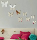 Acrylic Mirror Sticker Butterfly Created By  Posted By Wall Art