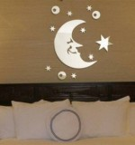 Acrylic Mirror Sticker Moon Created By  Posted By Wall Art