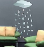 Acrylic Mirror Sticker Rain Created By  Posted By Wall Art