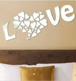 Acrylic Mirror Sticker Love Created By  Posted By Wall Art