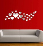 Acrylic Mirror Sticker Heart Created By  Posted By Wall Art