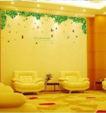 Green Leaf Wall Sticker Created By  Posted By Wall Art