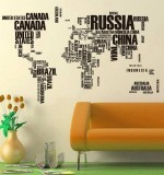 Monumental World Map Created By  Posted By Wall Art