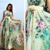 4321b01576 Qatar Collections  Floral Chic Maternity Long Dress