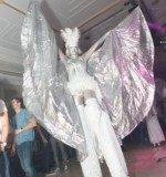 Angelic body painted stilt walkers Created By Omar Blawny Posted By Blawni Events