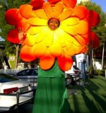 Giant Sunflower Stilt Walker Created By Omar Blawny Posted By Blawni Events