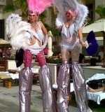 Las Vegas Showgirls Stilt Walker Created By Omar Blawny Posted By Blawni Events