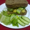 Tutti Frutti Chicken ON SLICED THICK BREAD Created By  Posted By JG Sandwich Cellar