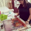 Silk Painting Created By  Posted By Arts and Crafts Center Doha