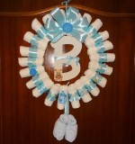 Diaper Wreath Created By Basket Of Joy Posted By Basket of Joy