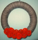 Grey and black yarn wrapped wreath Created By Basket Of Joy Posted By Basket of Joy