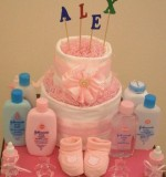 Diaper Cake Created By Basket Of Joy Posted By Basket of Joy