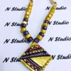 Yellow Terracotta square necklace Created By  Posted By N Studio