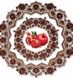 Pomegranate symbol of unity, wealth , fertility oriental rugs designer in Persia using pomegranate flower , or pomegranate leaves , pomegranate branches In Persian carpets.  Pomegranate tree  is a common motif in rugs of eastern Turkestan Created By Sameyeh Posted By Sh.Sameyeh Pte Ltd