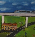 HS2 Train In A Cheshire Village Created By Glen Vaudrey Posted By Maher & Valentino