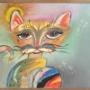Psychedelic cat Created By Roxana L.C. Posted By Roxana Luca