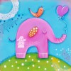 Pink Elephant Created By Dominika Bozic, Les Chérubins Posted By Les Cherubins