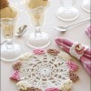 Ice Cream Cone Doily & Napkin Ring Created By  Posted By nasa4000