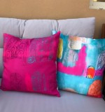 Arabian landscape cushions in bright colors Created By  Posted By Cosy Corner