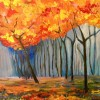 Autumn Falls Created By Artist Posted By Risolat Makhamedova