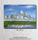 Snowy Mountain Created By Ramya Aravindan Posted By Ramya