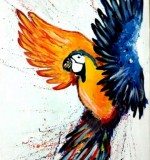 Abstract Parrot Created By Ramya Aravindan Posted By Ramya