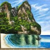 Island painting Created By Artist Posted By Jamela Ali Mohammed