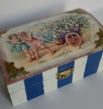 "Decoupage. Wooden Box ""Angels with a lily-of-the-valley"" Created By  Posted By Slava"