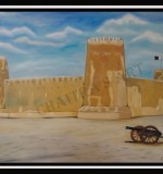 Al Zubara Fort - On Canvas - 70 cm X 100 cm Created By Artist Posted By Chaitra Somanath
