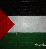 Palestinian Flag Mosaic Created By  Posted By Mosaic Artist Amneh baagour