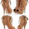 Brown lace up booties Created By Aisha Fashion World Collection Posted By Aisha Fashion World