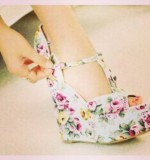 Printed Wedges Created By  Posted By Aisha Fashion World