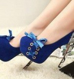 Blue Shoes Created By  Posted By Aisha Fashion World
