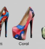 Multi-print heels Created By  Posted By Aisha Fashion World