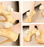 heels with front flower Created By  Posted By Aisha Fashion World