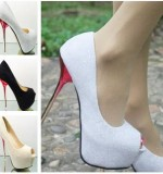 Trendy glitter heels Created By  Posted By Aisha Fashion World