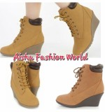 Low heel Timberland wedges booties Created By  Posted By Aisha Fashion World