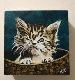 Kitten in the Basket Created By Marvin Eugenio Posted By Marvin Eugenio