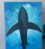 Shark in the shallow 80*100 Created By  Posted By Buket Atabek Melis