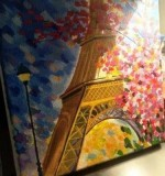 La tour Eiffel Created By Artist Samantha Posted By Samantha Viswas
