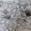 Charcoal drawing Beetroot flowers