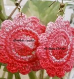 handmade crochet floral earrings Created By Aesthetic crochet Posted By Aesthetic Crochet