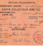 Sandjak D'alexandrette Electorial Card 1938 Created By Turkey Posted By Arabsilo