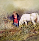 Girl with Pony Horse Created By Kareem Albakry Posted By Kareem G Albakry