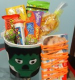 Frankenstein Halloween treat pot (12cm) Created By Basket Of Joy Posted By Basket of Joy